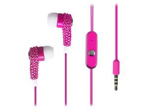 KTA Enterprises Pink Bling Rhinestone ear bud KTA 65