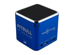 Pitbull RockDoc MEMORY Portable 1way 4GB/MP3 Speaker 900576, Blue