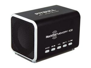 Pitbull RockDoc MEMORY Portable 2way 4GB/MP3 Speaker 900585, Black