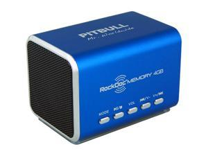 Pitbull RockDoc MEMORY Portable 2way 4GB/MP3 Speaker 900577, Blue