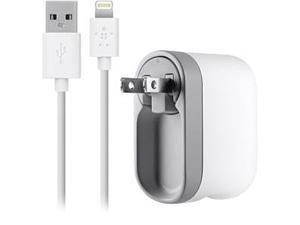 BELKIN F8J032tt04-WHT White Swivel Charger + Lightning ChargeSync Cable (10 Watt/2.1 Amp)