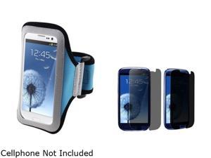 Insten Light Blue Armband & Privacy Screen Protector for Samsung Galaxy S3 826139