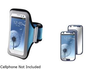Insten Light Blue Armband & Mirror Screen Protector for Samsung Galaxy S3 826138
