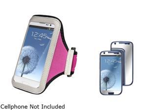 Insten Hot Pink Armband & Mirror Screen Protector for Samsung Galaxy S3 826143