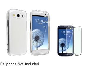 Insten Clear Snap-on Crystal Case & Colorful Diamond Screen Protector For Samsung Galaxy S3 674931