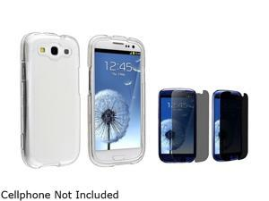 Insten Clear Snap-on Crystal Case & Privacy Screen Protector For Samsung Galaxy S3 674930