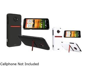 Insten Black & White 2-Pack Snap-on Rubber Coated Case for HTC EVO 4G LTE 663128