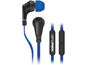 NoiseHush Blue/Black 3.5mm Handsfree Stereo 3.5mm Headset with Mic - NX80-11904