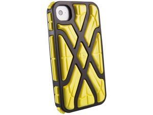 G-Form XTREME Square Ruggedized Protective Case for Apple iPhone 4 & 4S (Black Case/Yellow RPT)