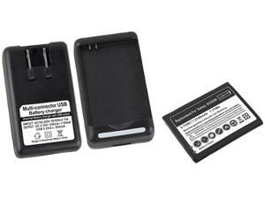 Insten 2100 mAh 2x Battery + Travel Home Charger for Samsung Galaxy S3 i9300 907587