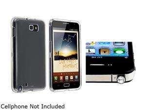 Insten Clear Crystal Hard Plastic Case + Diamond 3.5mm Headset Dust Cap For Samsung Galaxy Note N7000 920603