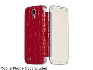 ANYMODE Me-In Red Mirror Flip Cover Folio Case For Samsung Galaxy S4 BRMI000NRD