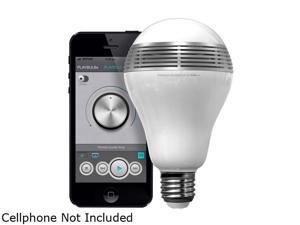 MiPow BTL100-SR-WW White and Silver PLAYBULB Bluetooth Smart LED Speaker Lightbulb