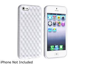 Insten White 3D Wave TPU Rubber Skin Case For iPhone 5 / 5S 800861