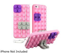 Insten Light Pink / Purple / Gray Toy Bricks Snap-on Hard Plastic Case For iPhone 5 800853