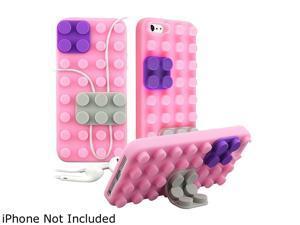 Insten Light Pink / Purple / Gray Toy Bricks Snap-on Hard Plastic Case For iPhone 5 800853