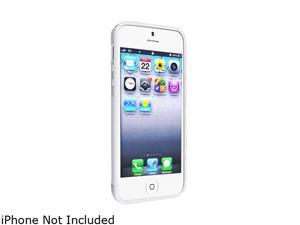 Insten White S Shape TPU Rubber Skin Case w/ Reusable Screen Protector For iPhone 5 738654