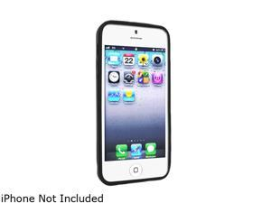 Insten Black Skin Case with 2pcs-set Reusable Screen Protector compatible with the NEW Apple iPhone 5