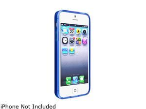 Insten Frost Clear Dark Blue TPU Case + Colorful Diamond Screen Protector compatible with the NEW Apple iPhone 5