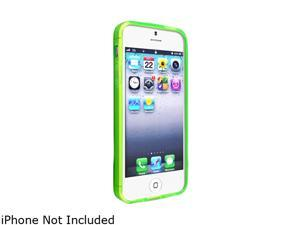 Insten Frost Clear Green TPU Case with 2pcs-set Reusable Screen Protector compatible with the NEW Apple iPhone 5
