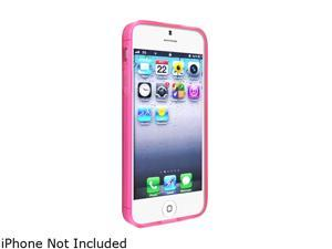 Insten Frost Clear Hot Pink TPU Case + Anti-Glare Screen Protector Compatible With Apple iPhone 5 / 5s 739034