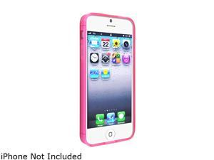 Insten Frost Clear Hot Pink TPU Case + 2pcs-set Anti-Glare LCD Cover compatible with the NEW Apple iPhone 5