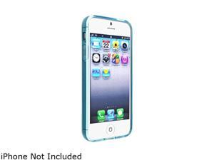 Insten Frost Clear Light Blue TPU Case + Colorful Diamond Screen Protector compatible with the NEW Apple iPhone 5