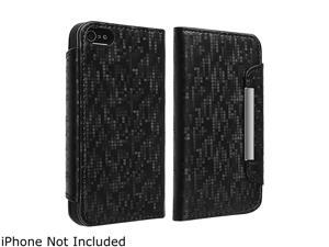 Insten Wallet Leather Case with Card Holder compatible with Apple iPhone 5 / 5S, Black