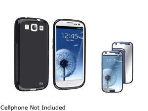 Insten Black TPU Rubber Case & Mirror Screen Protector For Samsung Galaxy S3 817878