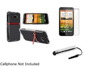 Insten Clear Snap-on Crystal Case & Reusable Screen Protector & Stylus For HTC EVO 4G LTE 752601