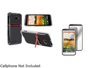 Insten Clear Snap-on Crystal Case & Mirror Screen Protector For HTC EVO 4G LTE 752597