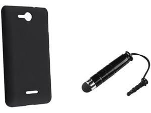 Insten Black Silicone Skin Case & Stylus For LG Lucid VS 840 724044