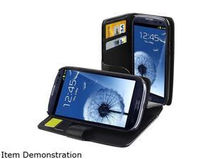 Insten Black Leather Case w/ Credit Card Wallet For Samsung Galaxy S3 682830