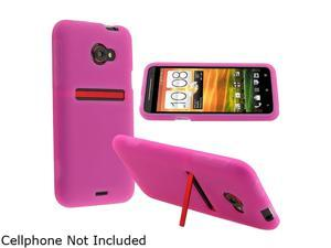 Insten Hot Pink Silicone Skin Case for HTC EVO 4G LTE 682363