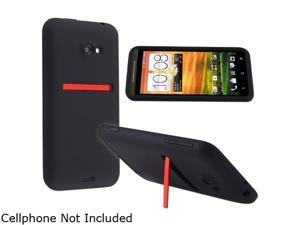 Insten Black Silicone Skin Case for HTC EVO 4G LTE 682360