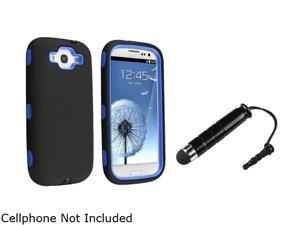 Insten Blue Skin / Black Hard Hybrid Case & Stylus for Samsung Galaxy S3 678361