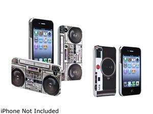 Insten Old Player & Black Camera 2-Pack Snap-on Rubber Coated Case For iPhone 4 / 4S 678290