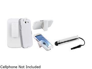 Insten White Holster w/ Stand & Stylus For Samsung Galaxy S3 674998