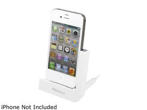 Macally LDOCK White Foldable Charging Stand For iPhone 4S/4