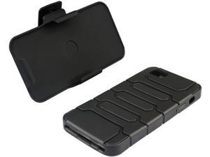 macally Black Holster Case with Belt Clip & Stand For iPhone 5 TANK5B