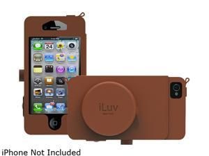 iLuv Tan Camera Premium Leather Case For iPhone 5 ICA7J344TAN