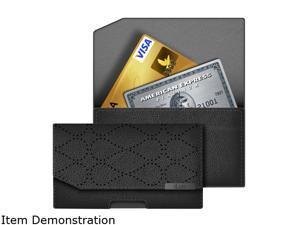 iLuv Black Artisan Clutch Designer Wallet For iPhone 5 ICG7O344BLK