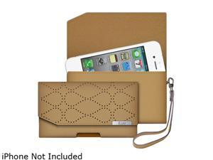 iLuv Tan Atelier Clutch Designer Wallet For iPhone 5 ICG7O345TAN