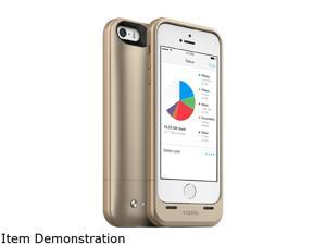 mophie Space Pack Gold 1700 mAh Battery Case with 32GB built-in storage for iPhone 5 / 5s / SE 2936