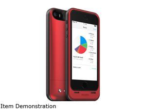 mophie Space Pack Red 1700 mAh Battery Case with 32GB built-in storage for iPhone 5 / 5s / SE 2821