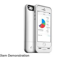 mophie Space Pack White 1700 mAh Battery Case with 32GB built-in storage for iPhone 5 / 5s / SE 2618