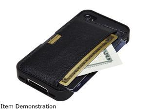 CM4 Q Card Wallet Case for iPhone 4S/4 - Black Onyx
