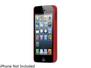 AMZER Red Solid 1mm Super Slim Simple Case For iPhone 5 AMZ94508