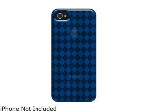 AMZER Luxe Argyle Blue Solid High Gloss TPU Soft Gel Skin Fit Case For iPhone 5 AMZ94512