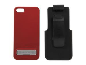 Seidio SURFACE Combo (w/Kickstand) Garnet Red Case For iPhone 5 / 5S BD2-HR3IPH5K-GR